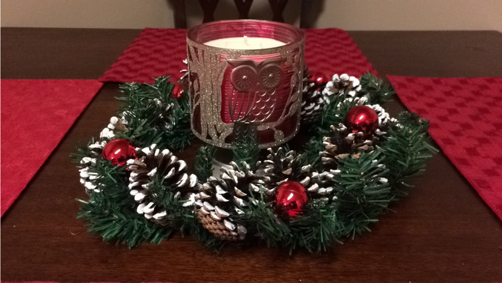 christmas candle centerpiece diy