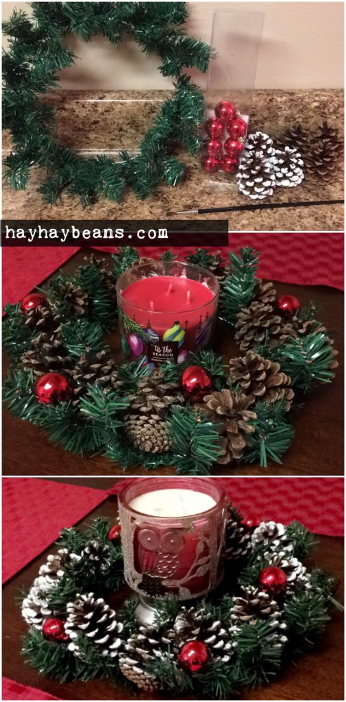 christmas candle centerpiece diy pinterest