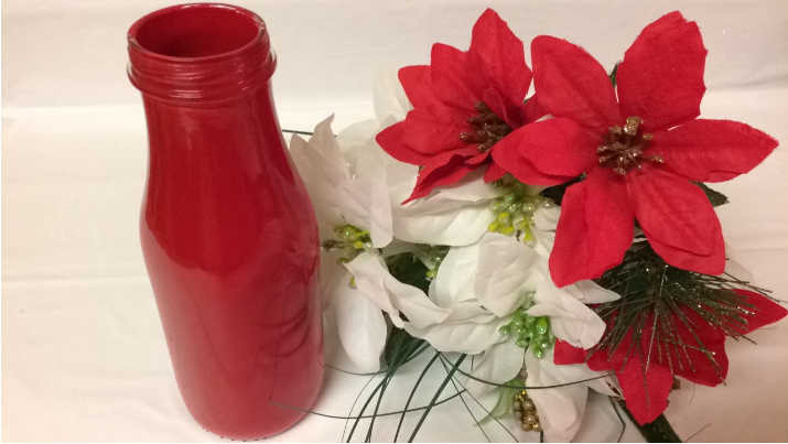 starbucks vase diy christmas vase craft decor flowers dollar tree