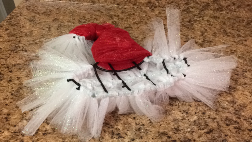 santa christmas diy hat tulle