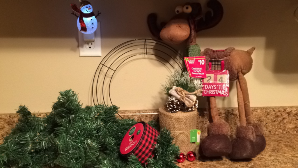 moose christmas wreath diy craft