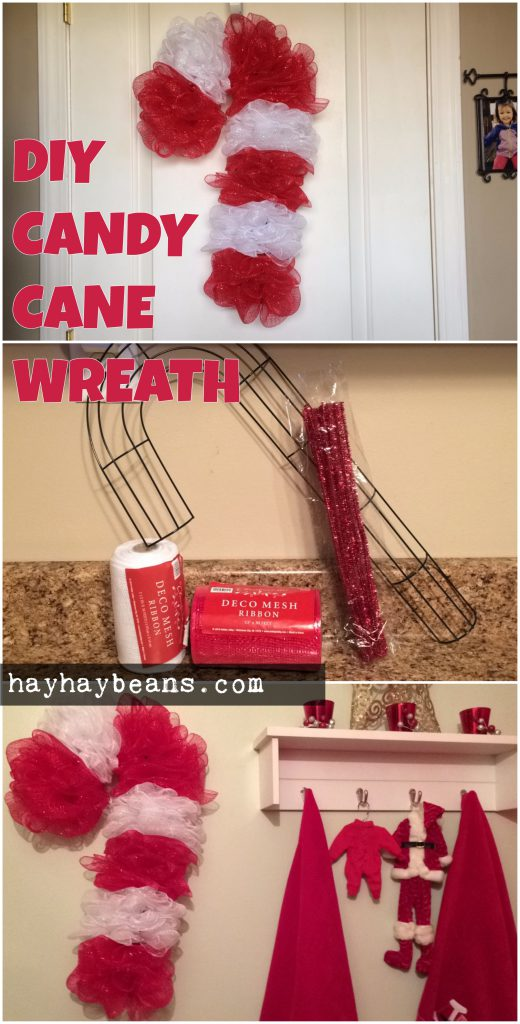 pinterest candy cane diy wreath