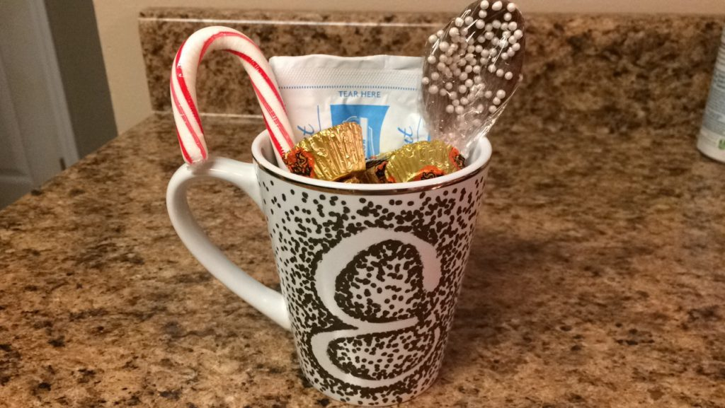 Gold Sharpie Mug And Goodies To Put Inside